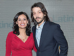 maria Teresa Kumar and Diego Luna attends the Cesar Chavez Premiere at The Newseum on March 18, 2014 in Washington, D.C., hosted by Voto Latino