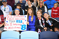 Saint Paul, MN - SEPTEMBER 03: USA fans of the United States during their 2019 Victory Tour match versus Portugal at Allianz Field, on September 03, 2019 in Saint Paul, Minnesota.