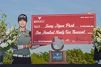 Sung Hyun Park (KOR) holds the ceremonial check for winning the Volunteers of America LPGA Texas Classic, at the Old American Golf Club in The Colony, Texas, USA. 5/6/2018.<br /> Picture: Golffile | Ken Murray<br /> <br /> <br /> All photo usage must carry mandatory copyright credit (&copy; Golffile | Ken Murray)