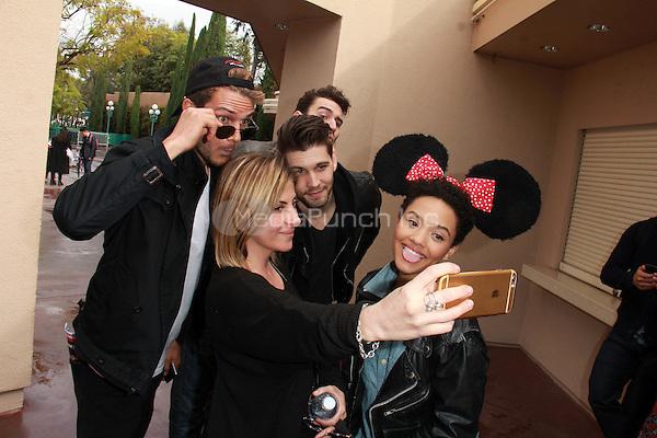 ANAHEIM, CA - MARCH 1: Kiersey Clemons, Ryan Cooper, Casey Jon Deidrick, John Garet Stoker at the Eye Candy Cast Day at Disneyland in Anaheim, California on March 1, 2015. Credit: David Edwards/DailyCeleb/MediaPunch
