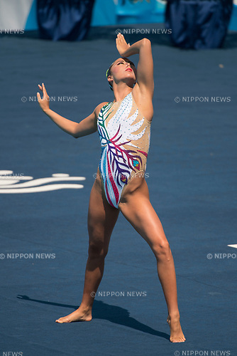 Yukiko Inui (JPN),<br /> JULY 19, 2017 - Synchronized Swimming :<br /> 17th FINA World Championships 2017 Budapest Women's Solo Free Routine Final round at City Park - Varosliget Lake in Budapest, Hungary. (Photo by Enrico Calderoni/AFLO)