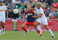 Boyds, MD - Saturday Sept. 03, 2016: Joanna Lohman, Lianne Sanderson during a regular season National Women's Soccer League (NWSL) match between the Washington Spirit and the Western New York Flash at Maureen Hendricks Field, Maryland SoccerPlex.