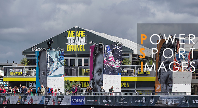 Teams heading towards the Scheveningen Harbour for a 24-hours pit stop of the Volvo Ocean Race Leg 9 Lorient - Gothenburg on June 18, 2015 in The Hague, Netherlands. Photo by Victor Fraile / Power Sport Images