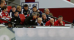 Gordon Strachan manager of Scotland watches from the bench during the FIFA World Cup Qualifying Group F match at Wembley Stadium, London. Picture date: November 11th, 2016. Pic David Klein/Sportimage