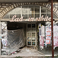 A closed down clothes shop on Anexartisias Street.