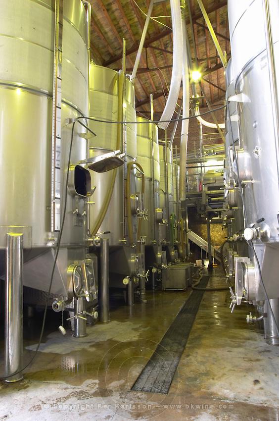 Fermentation vats. Albet i Noya. Fermentation tanks. Penedes Catalonia Spain