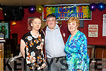 Liam McNally who celebrated his 40th. Birthday last Saturday night in Murphy's bar pictured with his mother Celine & sister Bronagh.