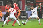 12.01.2018, BayArena, Leverkusen , GER, 1.FBL., Bayer 04 Leverkusen vs. FC Bayern M&uuml;nchen<br /> im Bild / picture shows: <br /> Franck Ribery (Bayern Muenchen #7),  im Zweikampf gegen  Kai Havertz (Leverkusen #29),  <br /> <br /> <br /> Foto &copy; nordphoto / Meuter