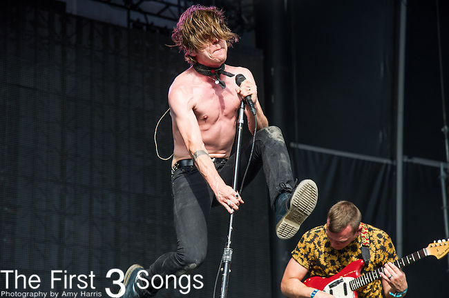 Matt Shultz of Cage the Elephant performs onstage during the Firefly Music Festival in Dover, Delaware.