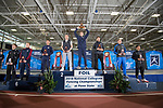 UNIVERSITY PARK, PA - MARCH 25: Nick Itkin of Notre Dame University holds up the first place trophy for the foil competition during the Division I Men's Fencing Championship held at the Multi-Sport Facility on the Penn State University campus on March 25, 2018 in University Park, Pennsylvania. (Photo by Doug Stroud/NCAA Photos via Getty Images)