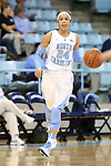 30 October 2013: North Carolina's Jessica Washington. The University of North Carolina Tar Heels played the Carson-Newman College Eagles in a women's college basketball exhibition game at Carmichael Arena in Chapel Hill, North Carolina. UNC won the preseason game 111-50.