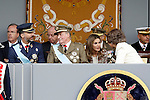 Prince Fellipe of Spain, Juan Carlos I King of Spain, Princess Letizia of Spain and Sofia Queen of Spain attend the National Day Military Parad.October 12,2012.(ALTERPHOTOS/Acero)