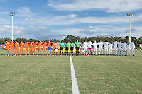 LAKEWOOD RANCH, Florida – Sunday, December 6, 2015: England U-17s named Champions after a 2-2 draw against the Netherlands in the Final during the 2015 Nike International Friendlies at Premier Sports Campus.
