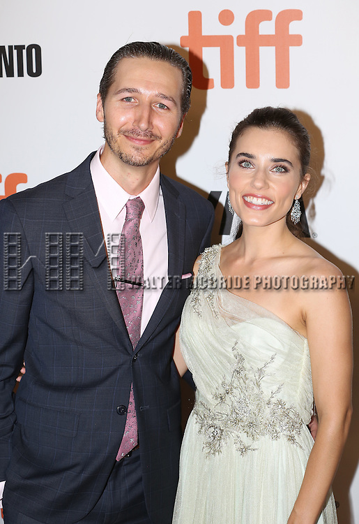 Alix Angelis and husband attends 'The Magnificent Seven' Red Carpet Gala Opening Night of the 2016 Toronto International Film Festival at TIFF Bell Lightbox on September 8, 2016 in Toronto, Canada.