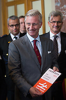 King Philippe of Belgium attends  the opening of ' Train World ' museum - Brussels