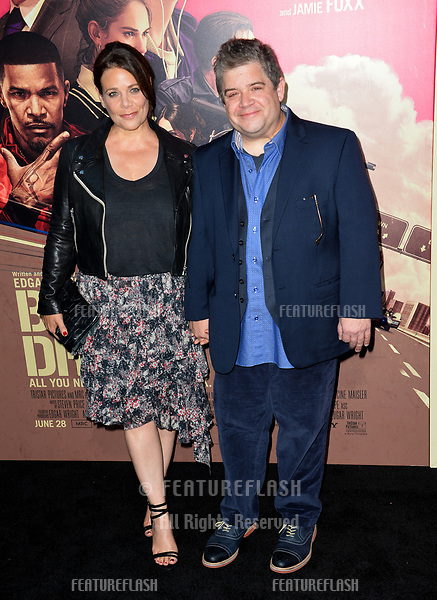 Patton Oswalt &amp; Meredith Salenger at the Los Angeles premiere for &quot;Baby Driver&quot; at the Ace Hotel Downtown. <br /> Los Angeles, USA 14 June  2017<br /> Picture: Paul Smith/Featureflash/SilverHub 0208 004 5359 sales@silverhubmedia.com