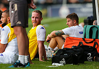 Leeds United's Adam Forshaw shares a joke with a teammate after being substituted <br /> <br /> Photographer Alex Dodd/CameraSport<br /> <br /> Football Pre-Season Friendly - York City v Leeds United - Wednesday 10th July 2019 - Bootham Crescent - York<br /> <br /> World Copyright © 2019 CameraSport. All rights reserved. 43 Linden Ave. Countesthorpe. Leicester. England. LE8 5PG - Tel: +44 (0) 116 277 4147 - admin@camerasport.com - www.camerasport.com