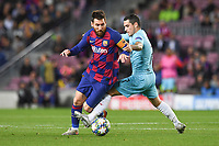 FOOTBALL: FC Barcelone vs SK Slavia Praha - Champions League - 05/11/2019<br /> Lionel Messi, Nicolae Stanciu<br /> <br /> <br /> Barcellona 5-11-2019 Camp Nou <br /> Barcelona - Slavia Praga <br /> Champions League 2019/2020<br /> Foto Paco Largo / Panoramic / Insidefoto <br /> Italy Only