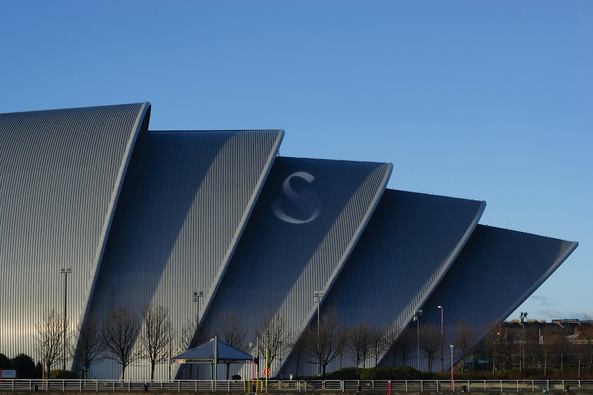 The Scottish Exhibition and Conference Centre (SECC) also known as The Armadillo, at the River Clyde Pacific Quay, Glasgow<br /> <br /> Copyright www.scottishhorizons.co.uk/Keith Fergus 2011 All Rights Reserved