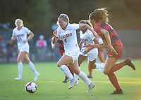 STANFORD, CA - August 30, 2019: Belle Briede at Maloney Field at Laird Q. Cagan Stadium. The Cardinal defeated the University of Pennsylvania Quakers 5-1.