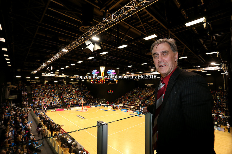 ILT Stadium Southland manager Nigel Skelt looks on during the ANZ Championship netball match between the Southern Steel and Waikato Bay of Plenty Magic, ILT Stadium Southland, Invercargill, Sunday, June 19, 2016. Photo: Dianne Manson / www.photosport.nz