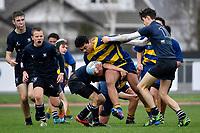 International College Rugby U15 - St Bernard's College v Stamford Endowed Schools ( UK ) at Hutt Rec, Lower Hutt, New Zealand on Monday 12 August 2019. <br /> Photo by Masanori Udagawa. <br /> www.photowellington.photoshelter.com