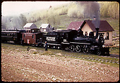 RGS #20 with caboose and coach in excursion train possibly at Peak.<br /> RGS  Peak ?, CO