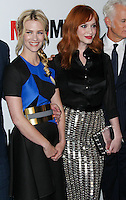 "HOLLYWOOD, LOS ANGELES, CA, USA - APRIL 02: January Jones, Christina Hendricks at the Los Angeles Premiere Of AMC's ""Mad Men"" Season 7 held at ArcLight Cinemas on April 2, 2014 in Hollywood, Los Angeles, California, United States. (Photo by Xavier Collin/Celebrity Monitor)"
