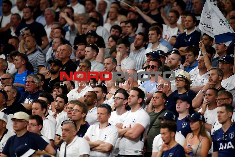 Tottenham fans during UEFA Champions League match, Final Roundl between Tottenham Hotspur FC and Liverpool FC at Wanda Metropolitano Stadium in Madrid, Spain. June 01, 2019.(Foto: nordphoto / Alterphoto /Manu R.B.)