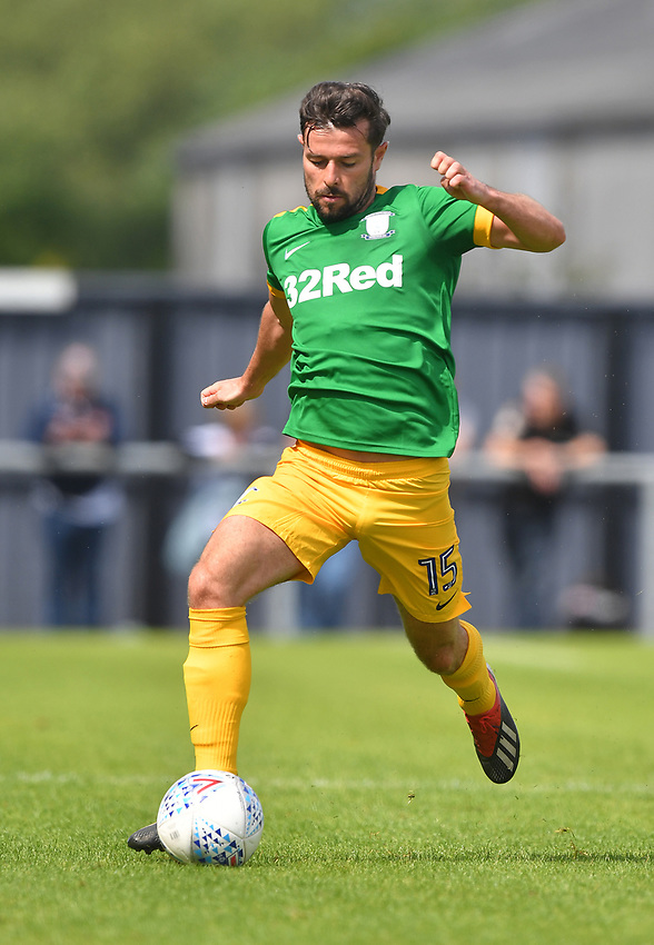 Preston North End's Joe Rafferty<br /> <br /> Photographer Dave Howarth/CameraSport<br /> <br /> Football Pre-Season Friendly - AFC Flyde v Preston North End - Saturday July 13th 2019 - Mill Farm - Flyde<br /> <br /> World Copyright © 2019 CameraSport. All rights reserved. 43 Linden Ave. Countesthorpe. Leicester. England. LE8 5PG - Tel: +44 (0) 116 277 4147 - admin@camerasport.com - www.camerasport.com