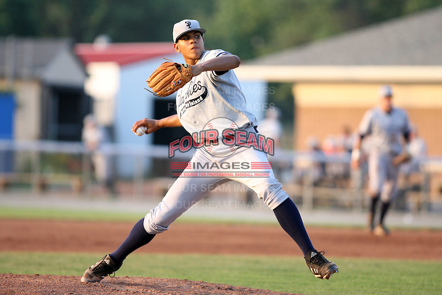July 9th 2007:  Dellin Betances of the Staten Island Yankees, Class-A affiliate of the New York Yankees, at Dwyer Stadium in Batavia, NY.  Photo by:  Mike Janes/Four Seam Images