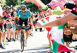 Omar Fraile (ESP) Astana Pro Team climbs the Portillon during Stage 15 of the 2018 Tour de France running 218km from Carcassonne to Bagneres-de-Luchon, France. 24th July 2018. <br /> Picture: ASO/Alex Broadway | Cyclefile<br /> All photos usage must carry mandatory copyright credit (© Cyclefile | ASO/Alex Broadway)