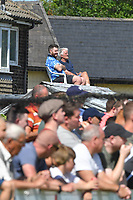 In a packed ground, every seat is at a premium <br /> <br /> Photographer Dave Howarth/CameraSport<br /> <br /> Football Pre-Season Friendly - Bamber Bridge v Preston North End - Saturday 6th July 2019 - Sir Tom Finney Stadium - Bamber Bridge<br /> <br /> World Copyright © 2019 CameraSport. All rights reserved. 43 Linden Ave. Countesthorpe. Leicester. England. LE8 5PG - Tel: +44 (0) 116 277 4147 - admin@camerasport.com - www.camerasport.com