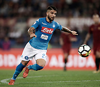 Calcio, Serie A: Roma, stadio Olimpico, 14 ottobre 2017.<br /> Napoli's  Lorenzo Insigne in action during the Italian Serie A football match between Roma and Napoli at Rome's Olympic stadium, October14, 2017.<br /> UPDATE IMAGES PRESS/Isabella Bonotto