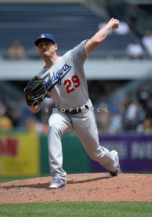 Los Angeles Dodgers Scott Kazmir (29) during a game against the Pittsburgh Pirates on June 27, 2016 at PNC Park in Pittsburgh, PA. The Dodgers beat the Pirates 4-3.