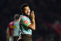 Alofa Alofa of Harlequins. European Rugby Champions Cup match, between Harlequins and Wasps on January 13, 2018 at the Twickenham Stoop in London, England. Photo by: Patrick Khachfe / JMP