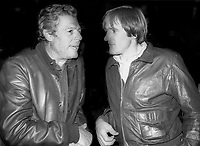 1978 FILE PHOTO<br /> New York City<br /> Marcello Mastroianni Gerard Depardieu<br /> at Studio 54<br /> Photo by Adam Scull-PHOTOlink.net