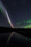 proton arc with northern lights