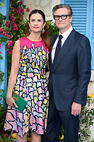Colin Firth &amp; Livia Firth arriving for the &quot;Mama Mia! Here We Go Again&quot; world premiere at the Eventim Apollo, Hammersmith, London, UK. <br /> 16 July  2018<br /> Picture: Steve Vas/Featureflash/SilverHub 0208 004 5359 sales@silverhubmedia.com