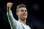 Cristiano Ronaldo of Real Madrid celebrates after scoring his goal during the La Liga 2017-18 match between Real Madrid and Girona FC at Estadio Santiago Bernabéu  on March 18 2018 in Madrid, Spain. Photo by Diego Souto / Power Sport Images