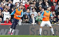 MADRI, ESPANHA, 02 MARÇO 2013 - CAMPEONATO ESPANHOL - REAL MADRID X BARCELONA - Cristiano Ronaldo (E) do Real Madrid durante partida contra o Barcelona  em partida pela 26 rodada do Campeonato Espanhol, no Estadio Santiago Bernabeu em Madri capital da Espanha neste sabado, 02, no Estadio. (FOTO: ALEX CID-FUENTES / ALFAQUI / BRAZIL PHOTO PRESS).