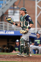 Vermont Lake Monsters catcher Kyle Wheeler (18) during a game against the Jamestown Jammers on July 12, 2014 at Russell Diethrick Park in Jamestown, New York.  Jamestown defeated Vermont 3-2.  (Mike Janes/Four Seam Images)