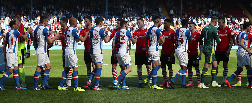 Pre match<br /> <br /> Photographer Rachel Holborn/CameraSport<br /> <br /> The EFL Sky Bet Championship - Blackburn Rovers v Barnsley - Saturday 8th April 2017 - Ewood Park - Blackburn<br /> <br /> World Copyright &copy; 2017 CameraSport. All rights reserved. 43 Linden Ave. Countesthorpe. Leicester. England. LE8 5PG - Tel: +44 (0) 116 277 4147 - admin@camerasport.com - www.camerasport.com