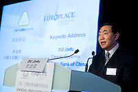 People's Bank of China Deputy Governor Du Jingfu, speaks at Shanghai / Paris Europlace Financial Forum, in Shanghai, China, on December 1, 2010. Photo by Lucas Schifres/Pictobank