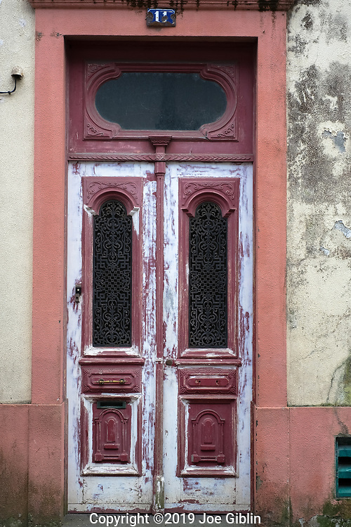 Doorway in Ponta Delgada, Sao Miguel, Portugal, the target island in the Azores.