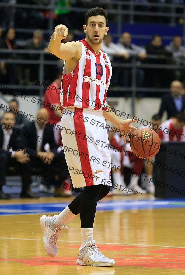 Kosarka ABA League season 2015-2016<br /> Crvena Zvezda v Cedevita<br /> Vasilije Micic<br /> Beograd, 04.01.2015.<br /> foto: Srdjan Stevanovic/Starsportphoto&copy;