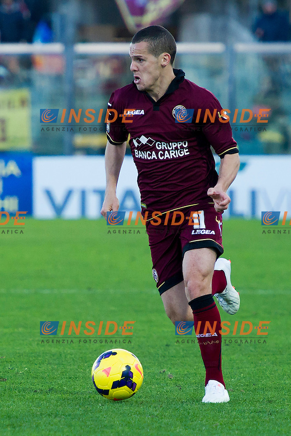 Djamel Mesbah Livorno <br /> Livorno 09-02-2014 Stadio Amando Picchi - Football Calcio Serie A 2013/2014 Livorno - Genoa Foto Andrea Masini / Insidefoto