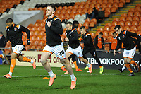 Blackpool's Oliver Turton during the pre-match warm-up <br /> <br /> Photographer Kevin Barnes/CameraSport<br /> <br /> Emirates FA Cup Third Round Replay - Blackpool v Reading - Tuesday 14th January 2020 - Bloomfield Road - Blackpool<br />  <br /> World Copyright © 2020 CameraSport. All rights reserved. 43 Linden Ave. Countesthorpe. Leicester. England. LE8 5PG - Tel: +44 (0) 116 277 4147 - admin@camerasport.com - www.camerasport.com