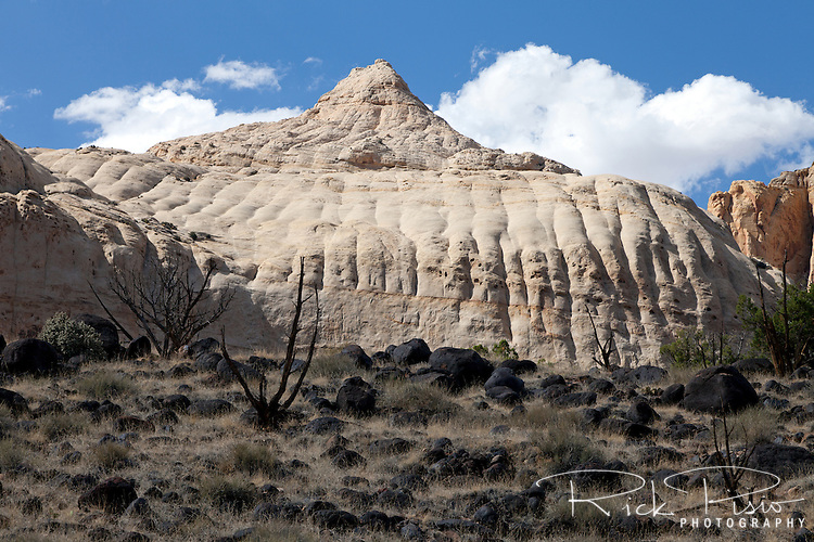 Capital Dome in Capital Reef National Park. Capital Dome is formed of Navajo Sandstone.