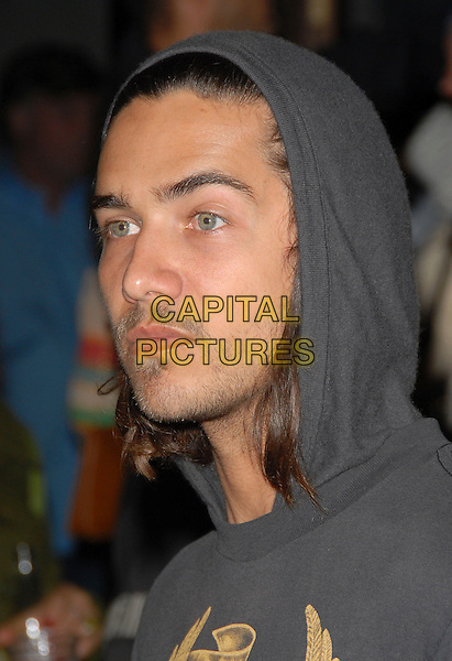 BOBBY BECIA.The Diesel Store Opening Party held on Melrose Avenue in West Hollywood, California, USA..May 30th, 2007.headshot portrait hoody hooded top grey gray stubble facial hair .CAP/DVS.©Debbie VanStory/Capital Pictures